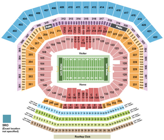 Levi\u0027stadium Tickets in Santa Clara California, Levi\u0027stadium Seating