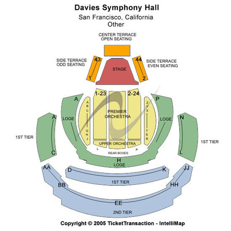 Davies Symphony Hall Tickets in San Francisco California, Seating