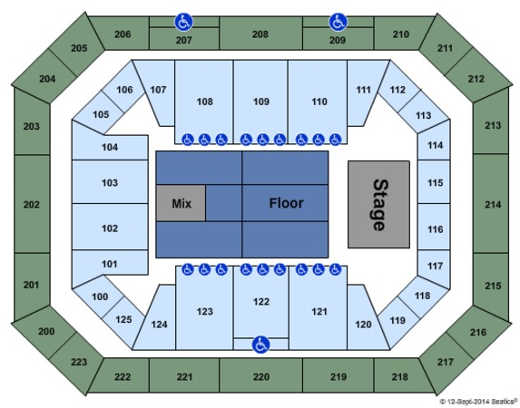 Alaska Airlines Center Tickets in Anchorage Alaska, Seating Charts