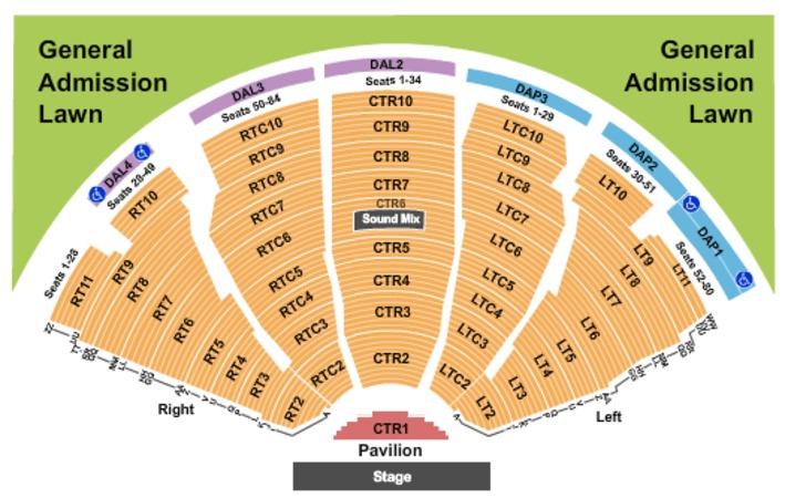 Gexa Energy Pavilion Seating Chart - Ace Energy