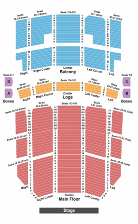 Rochester Auditorium Theatre Tickets in Rochester New York, Seating