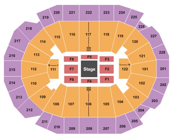 Forum Seating Chart Ufc