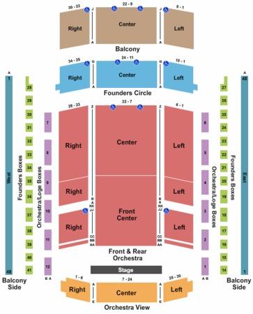 Schermerhorn Symphony Center Tickets in Nashville Tennessee, Seating