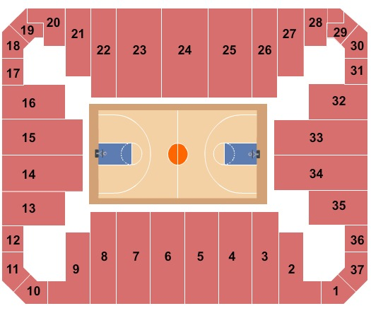 Siegel Center Seating Chart Chart Designs Template