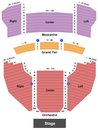 Meyer Theatre Tickets in Green Bay Wisconsin, Meyer Theatre Seating