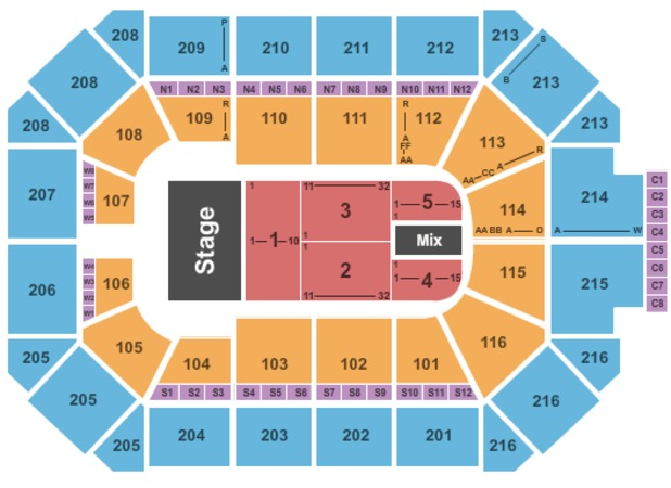 Allstate Arena Seating Chart View Awesome Home