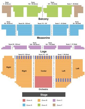 Golden Gate Theatre Tickets in San Francisco California, Golden Gate