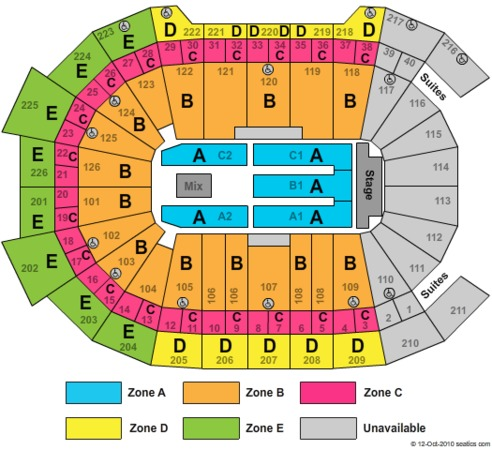 Giant Center Tickets in Hershey Pennsylvania, Giant Center Seating