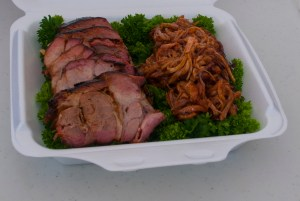 Pork shoulder - sliced and pulled