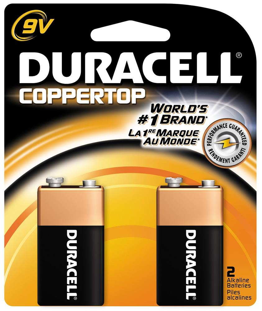 9 Volt Batterie Duracell Coppertop Alkaline 9 Volt Battery 2 Pack