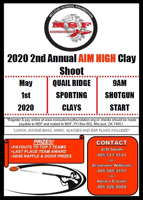 2020 clay shoot flyer