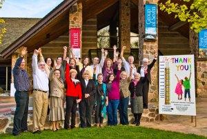 Volunteers celebrate after 2011 Autumn Art Sale