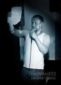 Owen Colgan - Displaying a Photo-Fit McNamee's Laughter Lounge