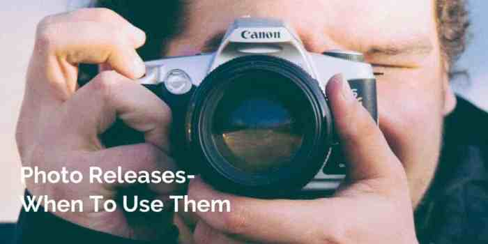 Get a free copy of a customizable photo release for your business