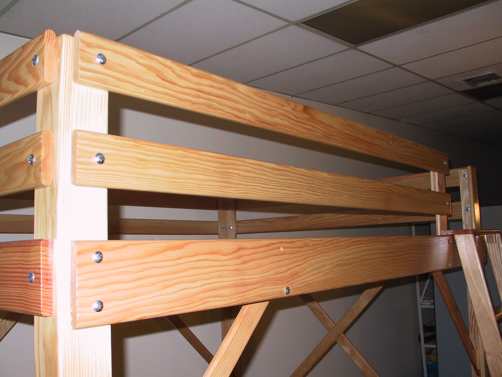 Wood Loft Lacquer Wood Loft Bed Finish Twin Full Queen And Extra