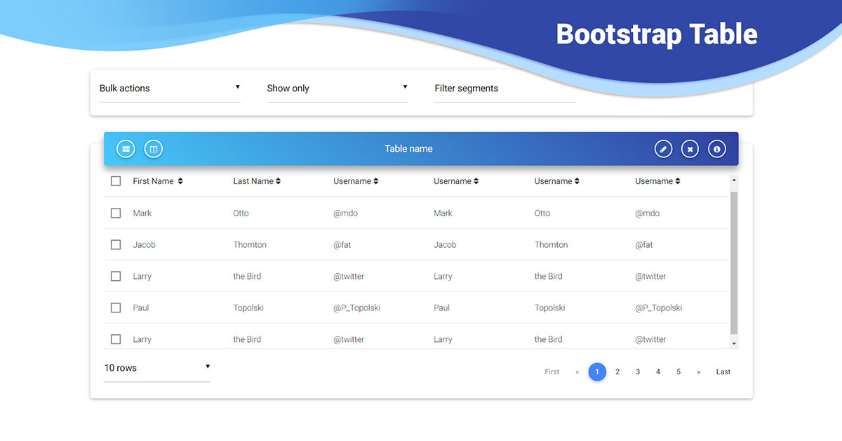 Bootstrap Table - examples  tutorial Basic  advanced usage