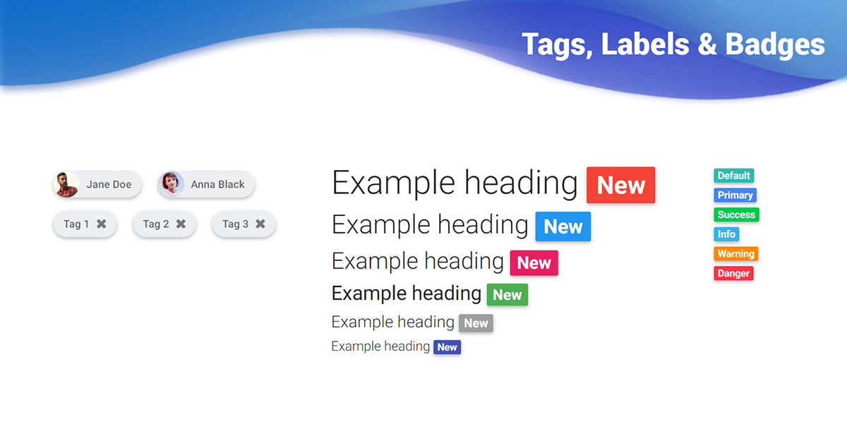 Bootstrap Css Bootstrap Tags, Labels & Badges - Examples, Tutorial