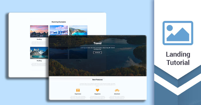 Landing page tutorial - how to build a stunning, responsive website