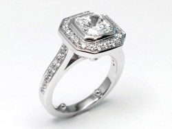 Small Of Radiant Cut Engagement Rings