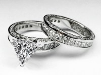 Engagement Ring -Trillion Diamond Bridal set Engagement ...