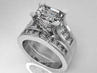 Engagement Ring -Modern Horizontal Emerald Cut Diamond ...