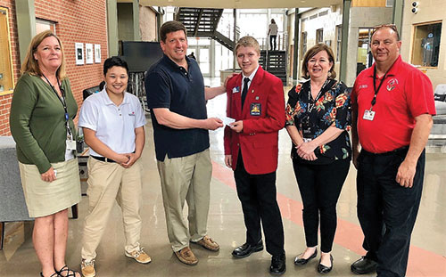 06/28/2018 Councilman Hartman Donates To Worcester Technical High