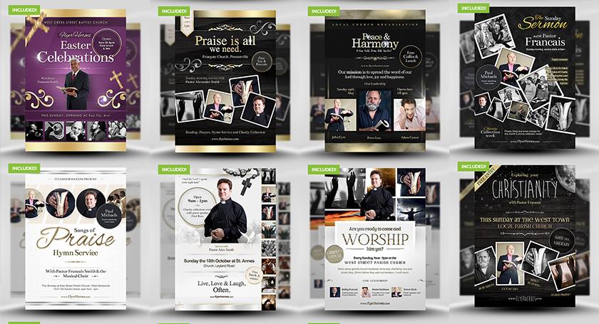 FlyerHeroes Faith Flyer Template Bundle - Only $14 \u2013 MyDesignDeals
