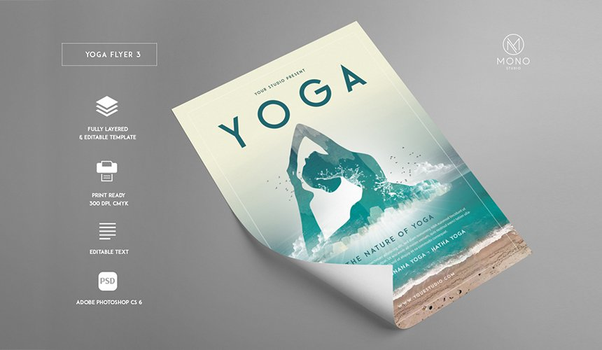 Fun  Fabulous Flyers - 99 OFF! - Only $39 \u2013 MyDesignDeals - yoga flyer