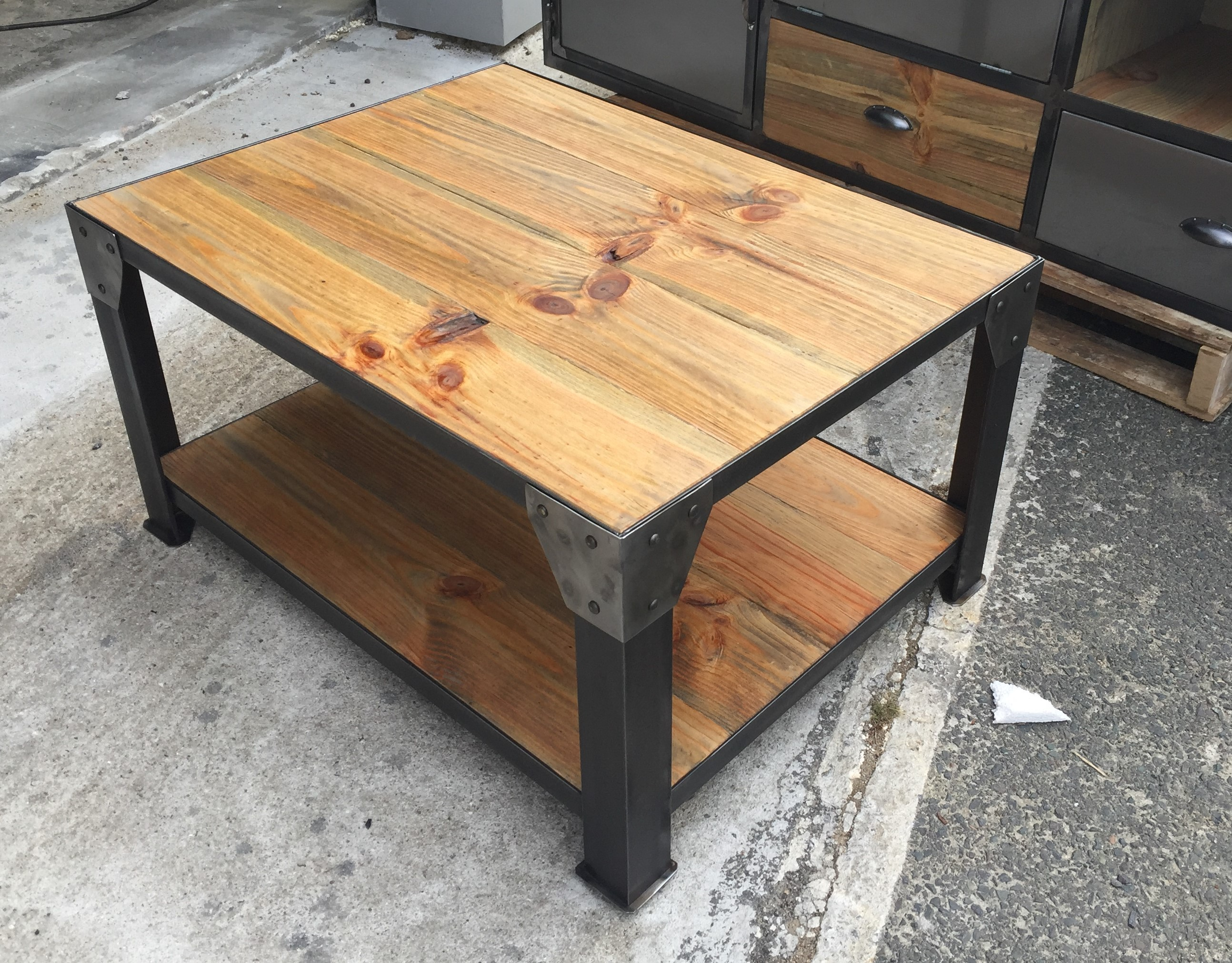 Protection Table Basse Table Basse Style Industriel
