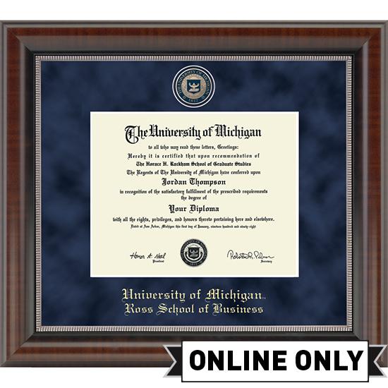 University of Michigan Diploma Frame Church Hill Classics Regal