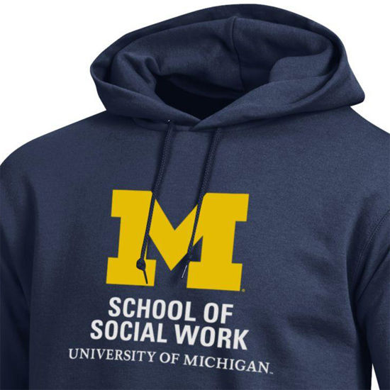 Champion University of Michigan School of Social Work Navy Hooded
