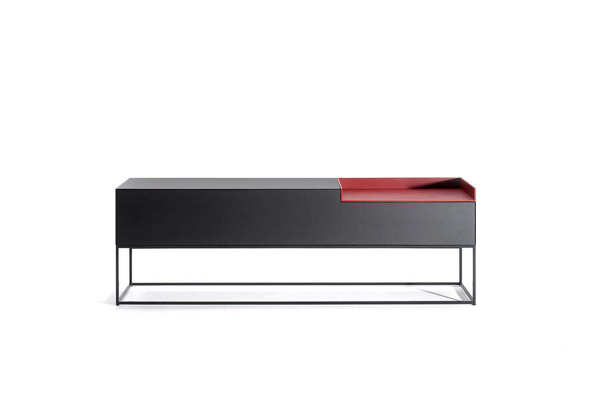 Sideboard 250 Cm Inmotion System Of Horizontal And Vertical Storage Units Mdf Italia