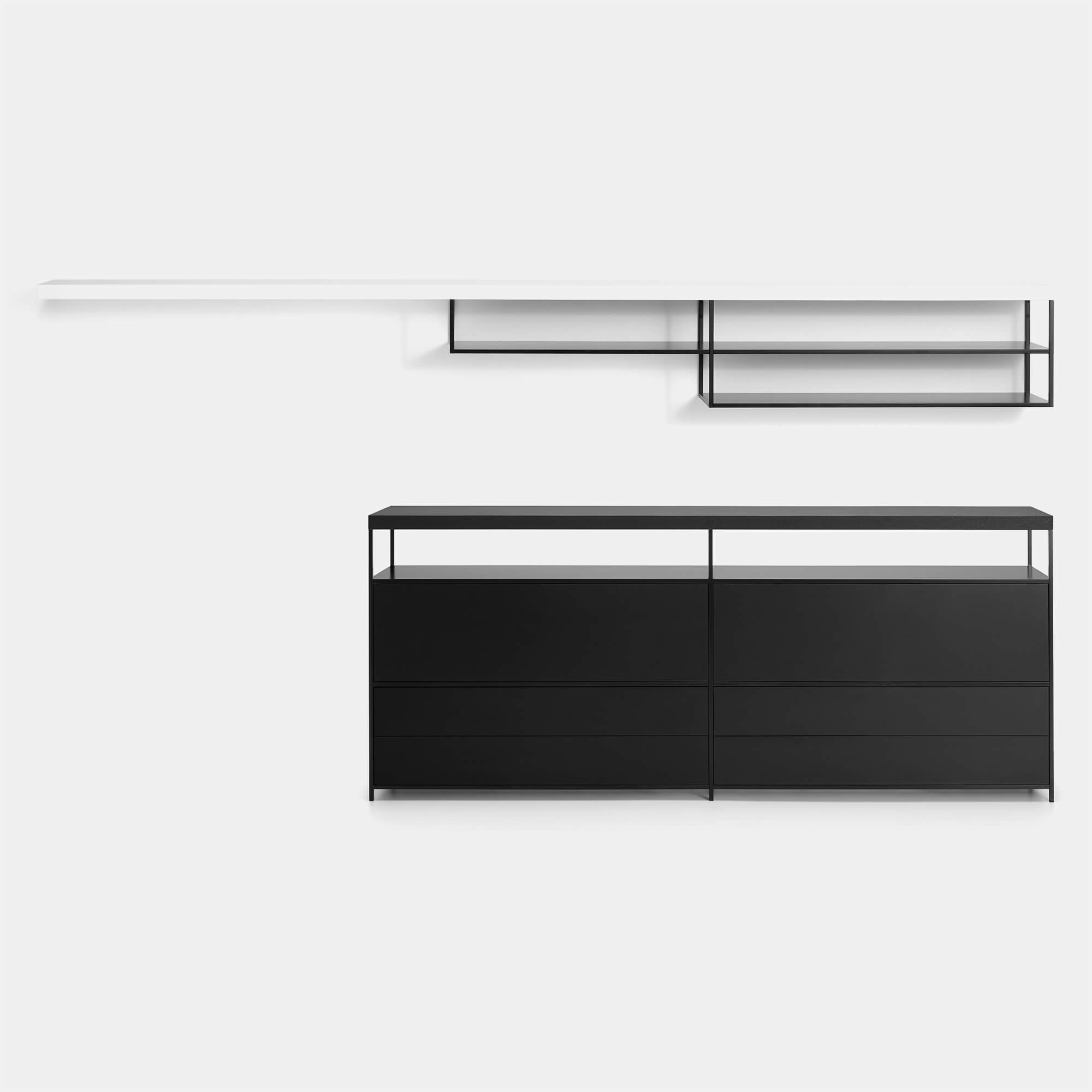 Sideboard Wandhängend Minima 3 A Modular Storage Unit With Shelves And Containers