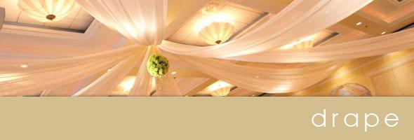 wedding drape