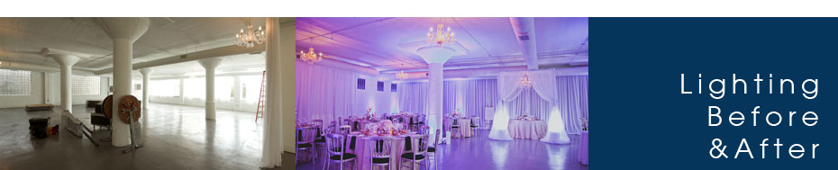 Wedding Lighting Before and After Photos