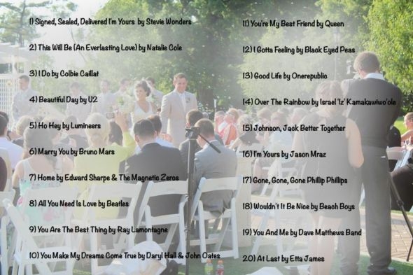 creating the sound track for your wedding part two