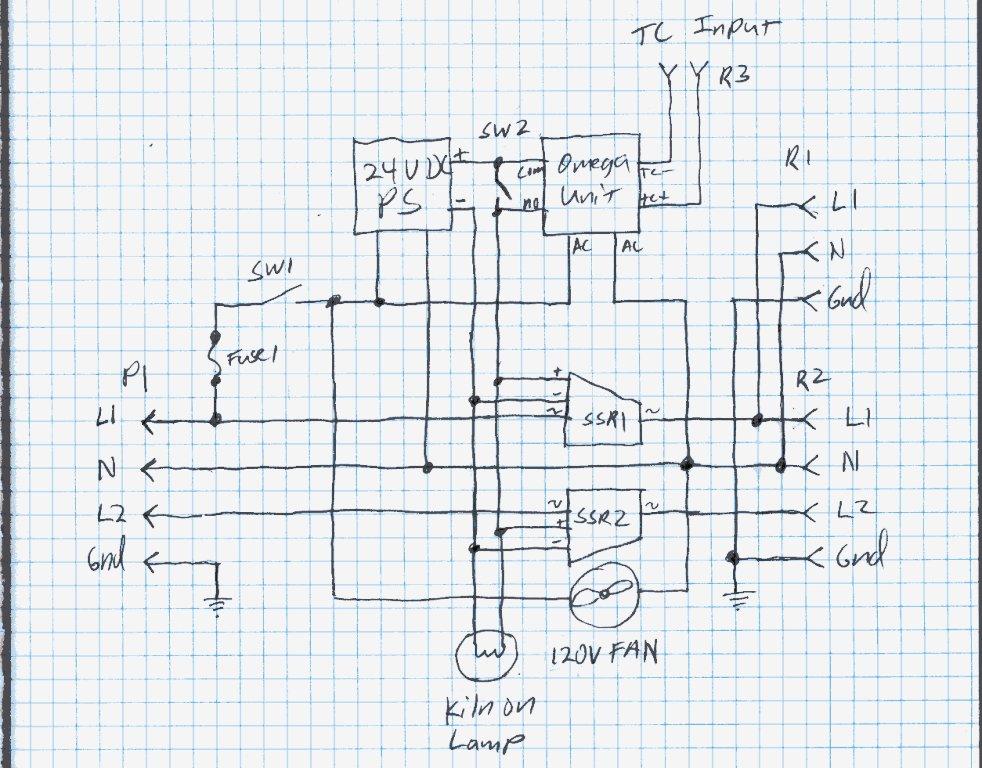 Kiln Controller Wiring Diagram 240v Contactor j-dornan