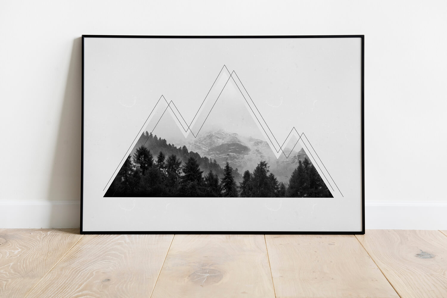 Poster Industrieel Grungy Mountains Poster