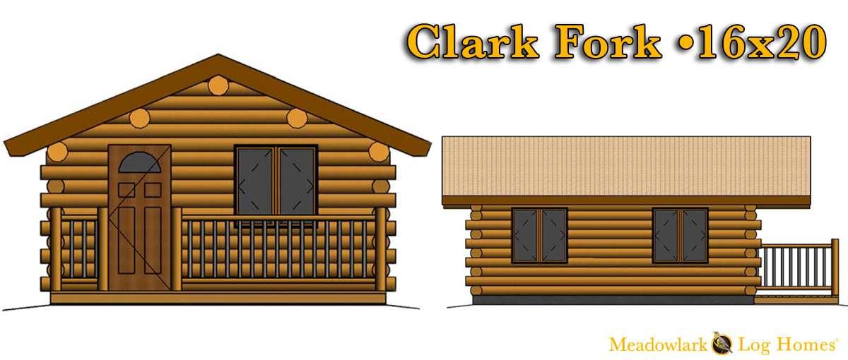 16x20 Log Cabin Meadowlark Log Homes