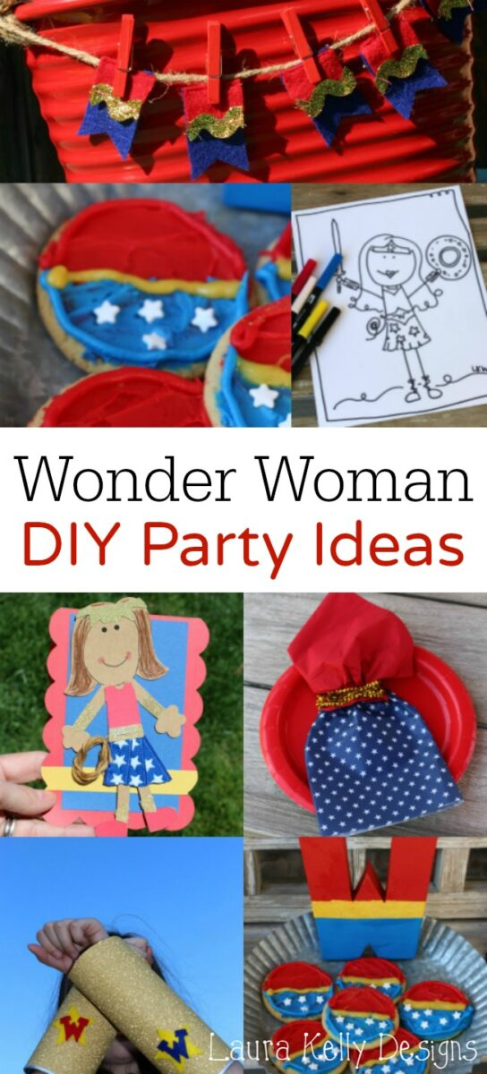 Diy Party Wonder Woman Diy Party Ideas Laura Kelly S Inklings