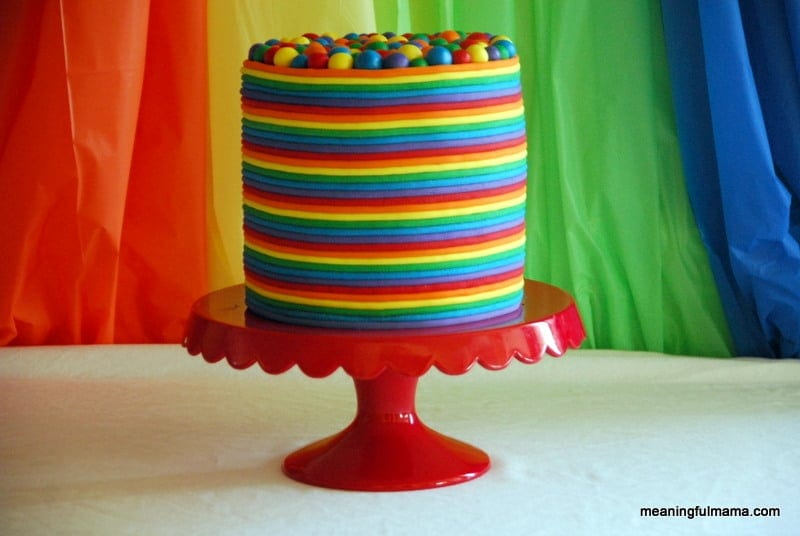 rainbow birthday cake 2