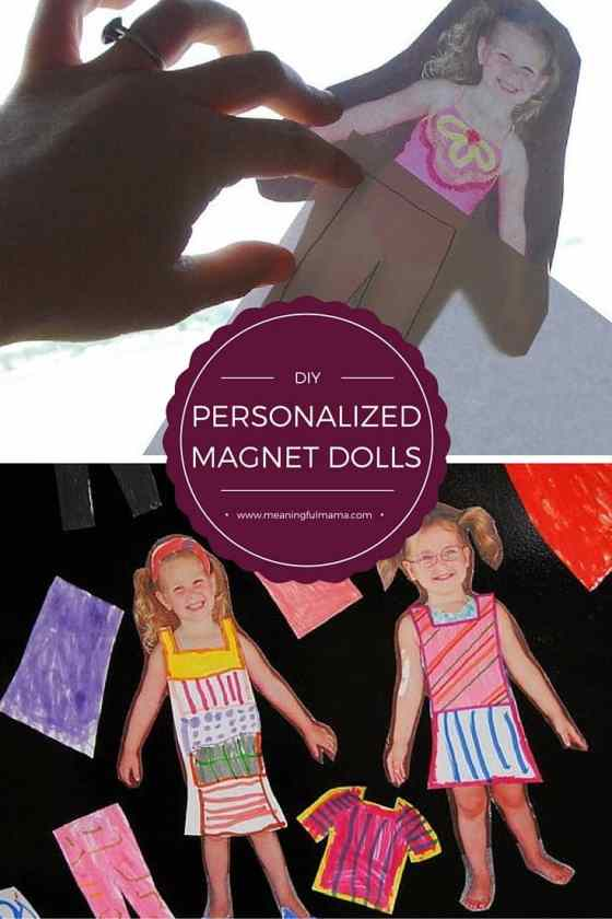 DIY Personalized Magnet Dolls - Crafts for Kids