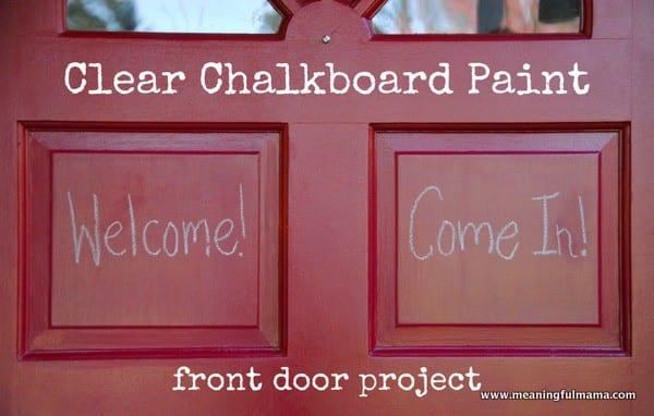 Forget those sticky notes and paint sections of your door with clear chalkboard paint!