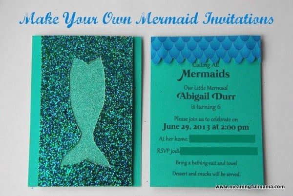 1-#mermaid party #invitation #diy-001