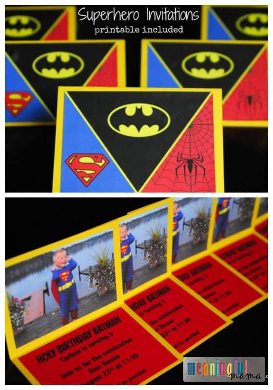 Superhero Invitations - Printable Included