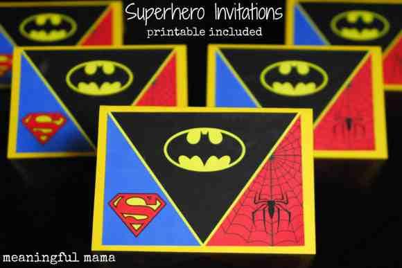 #superhero birthday invitation #free printable -005