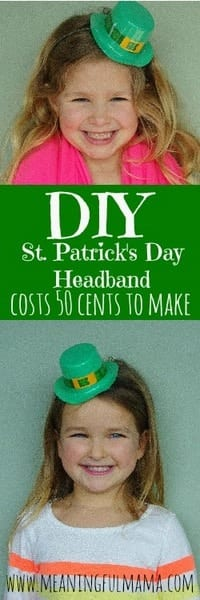 1-st. patrick's day headband diy