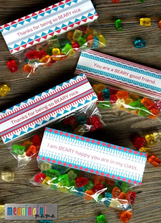 gummy bear valentine printable kids class