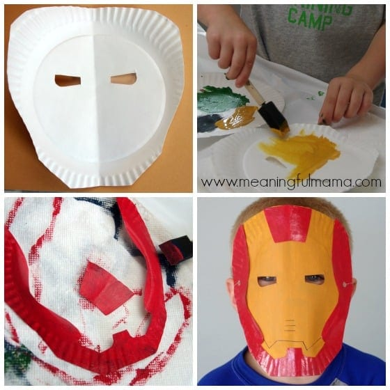 Iron Man Paper Plate Mask Tutorial and Template