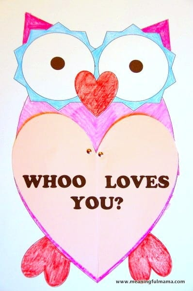 Owl Valentine with Printable